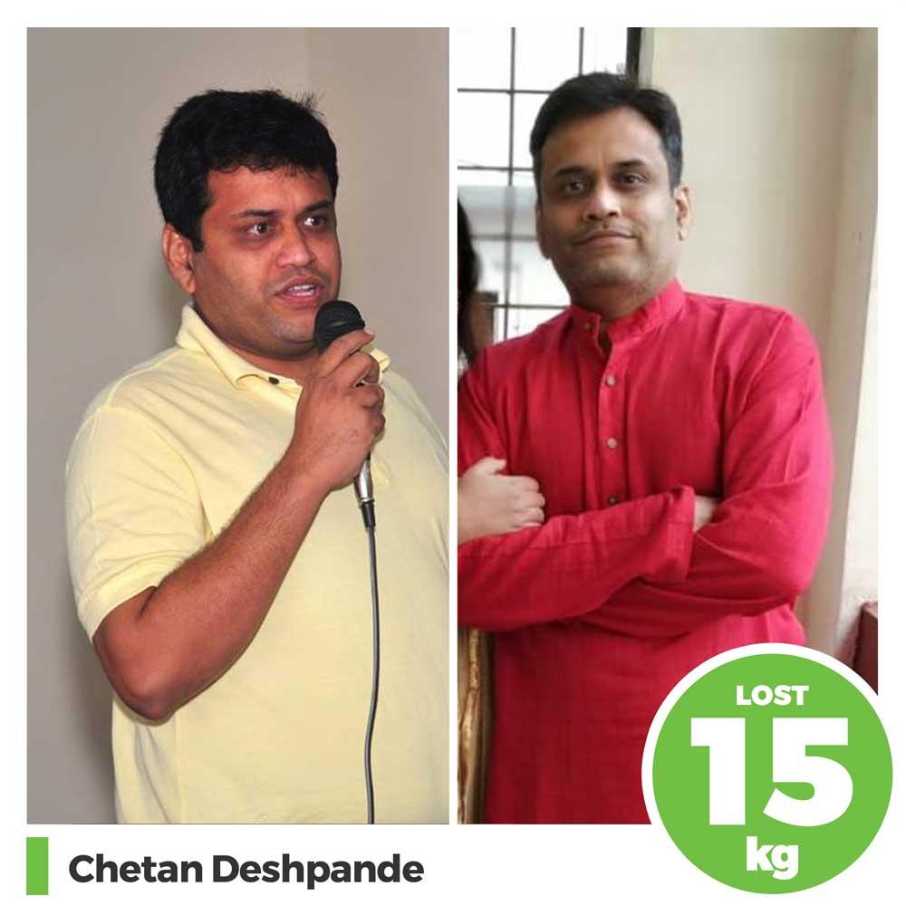 Chetan Deshpande 15 kg weight loss program pune
