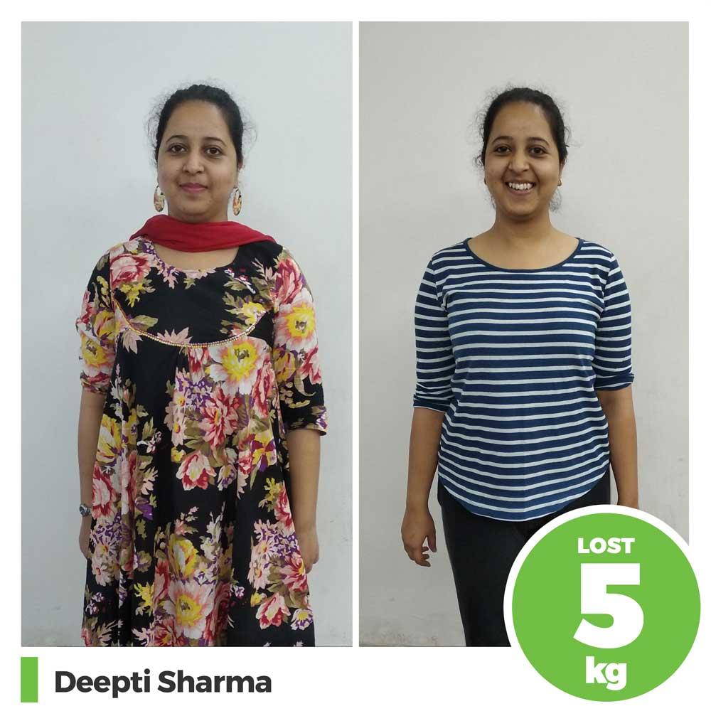 deepti sharma 5 kg natural diet weight loss program pune