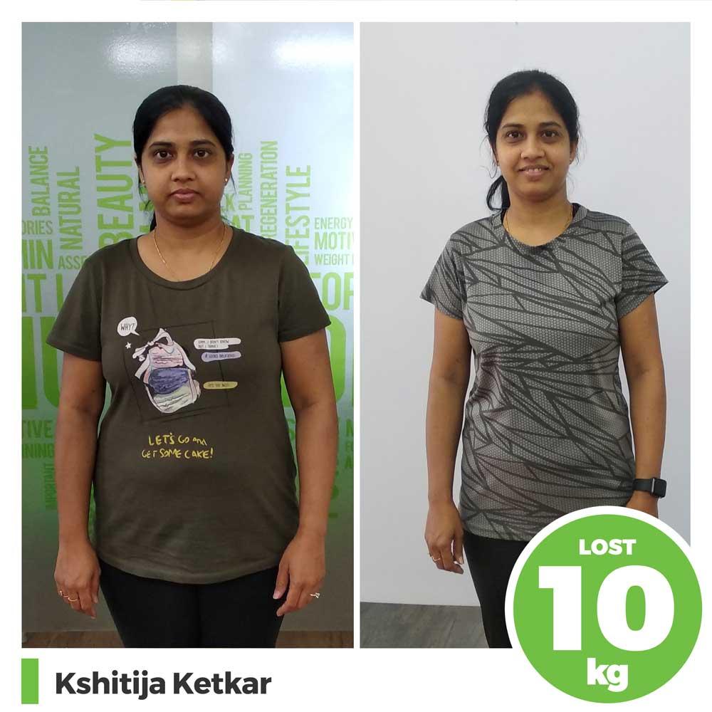 kshitija-ketkar 10 kg weight loss result pune