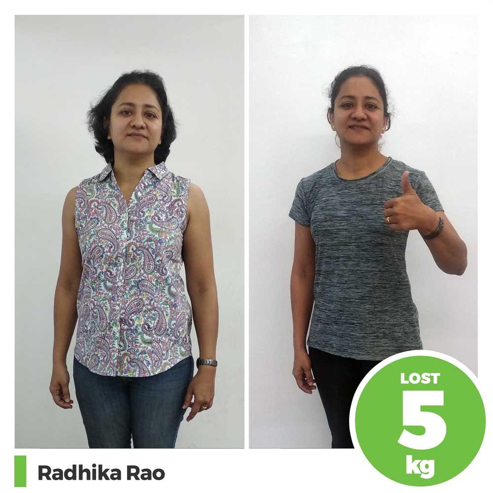 radhika rao 5 kg weight loss program pune