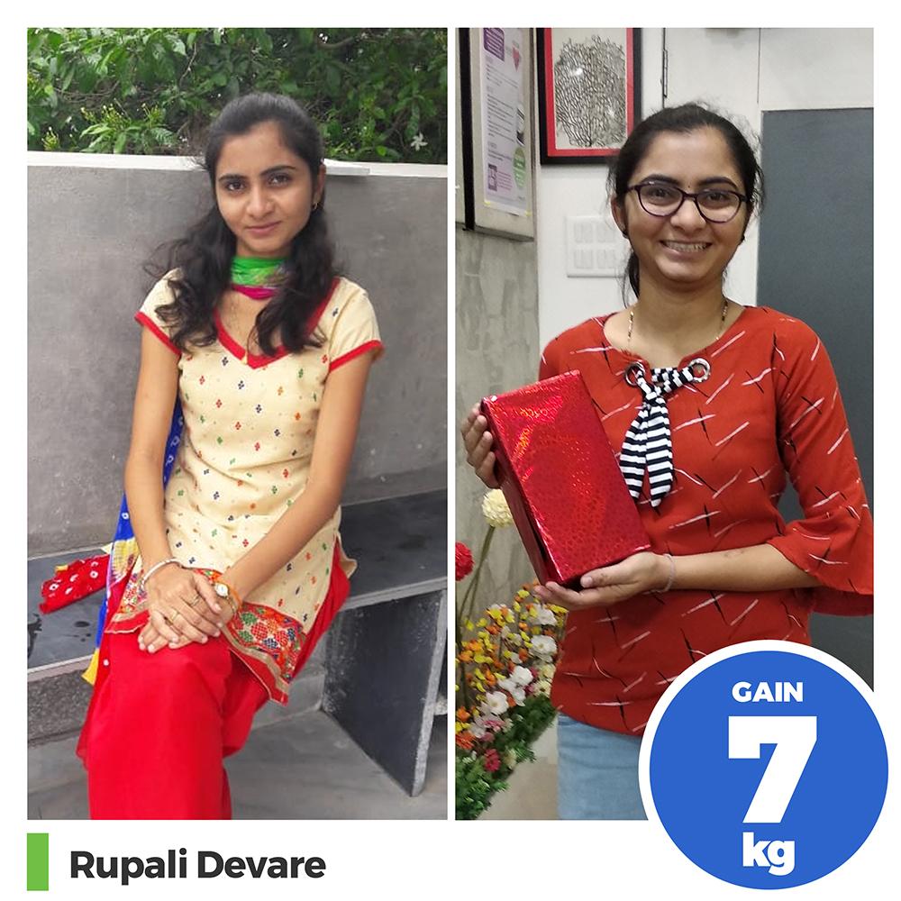 Rupali Devere 7kg weight gain program pune