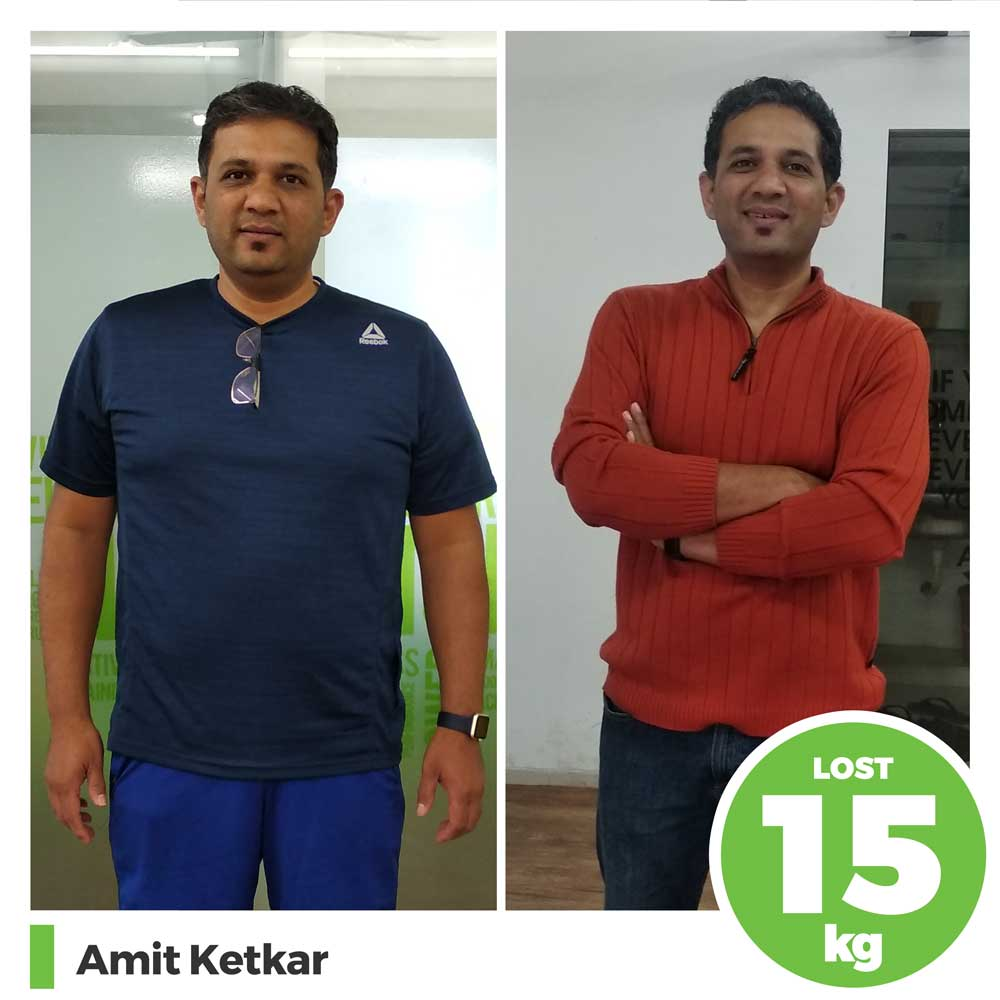 amit ketkar 15 kg weight loss diet program pune