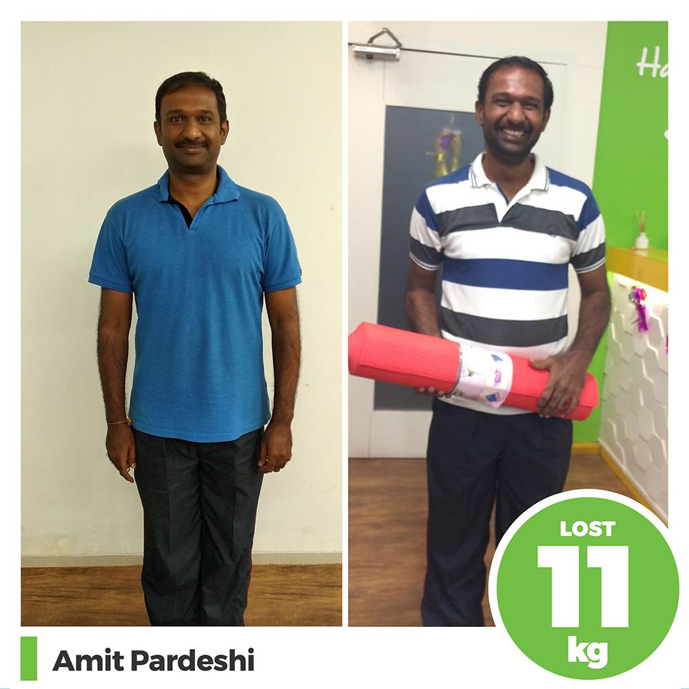 Amit Pardeshi 11kg weight loss program