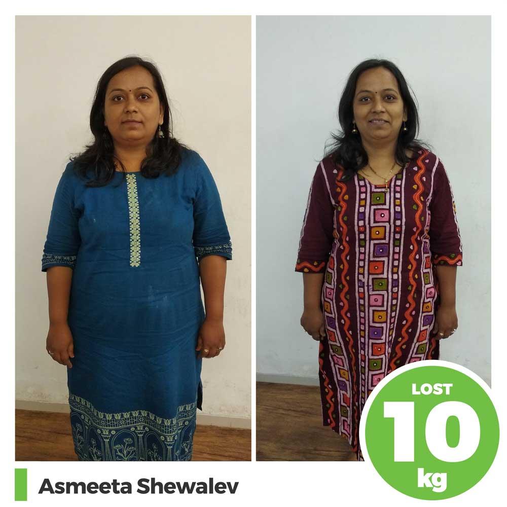 asmeeta shevale 10 kg weight loss program pune