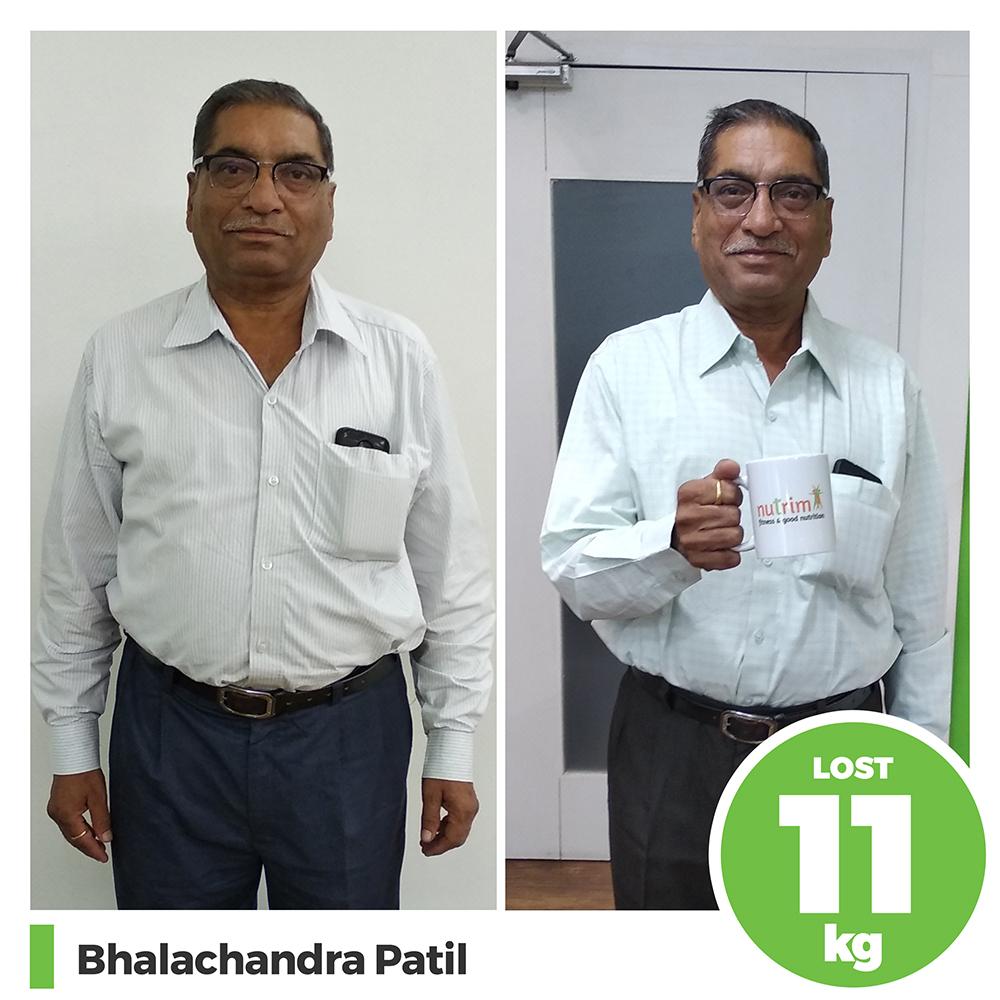 Bhalchandra Patil 11kg weight loss program pune