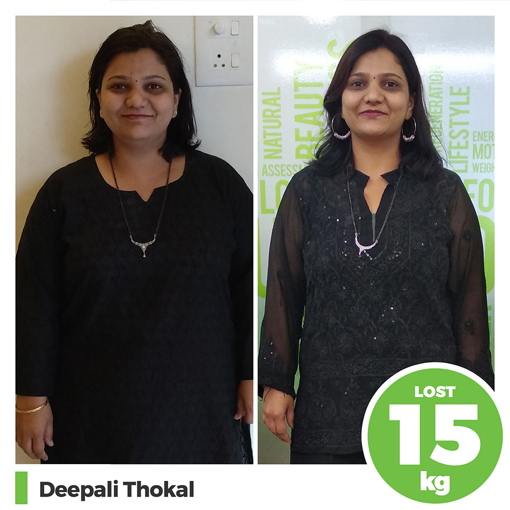 Deepali Thokal 15kg post pregnancy weight loss pune