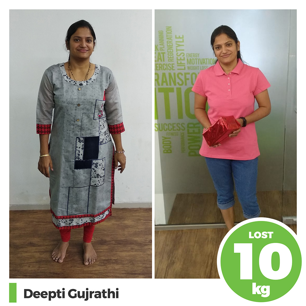 Deepti Gujrathi 10kg post pregnancy weight loss pune