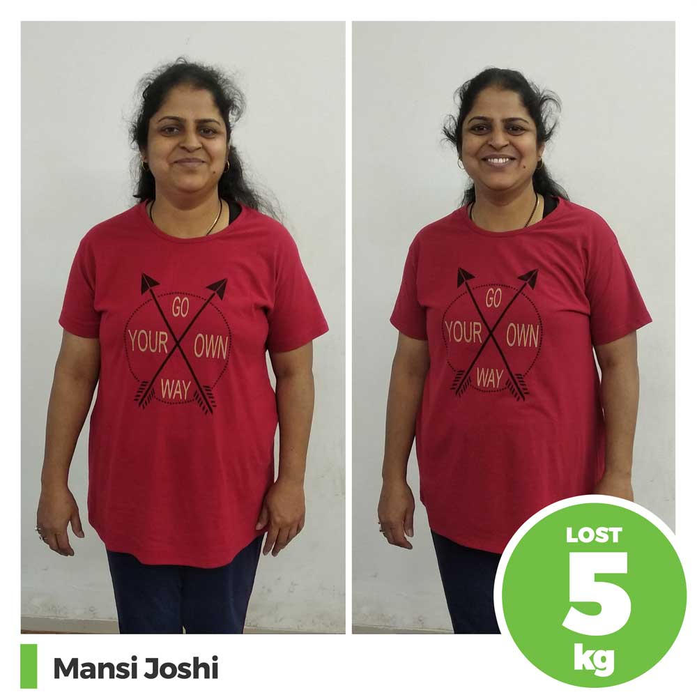 manasi joshi 5 kg natural diet weight loss program pune