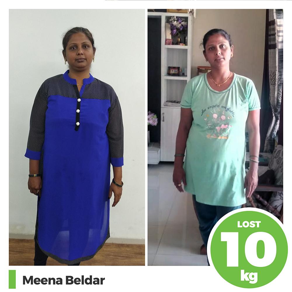 Meena Beldar 10 kg post pregnancy weight loss pune