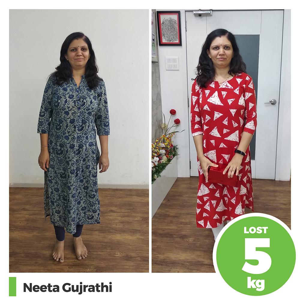 Neeta Gujrathi 5 kg post pregnancy weight loss pune