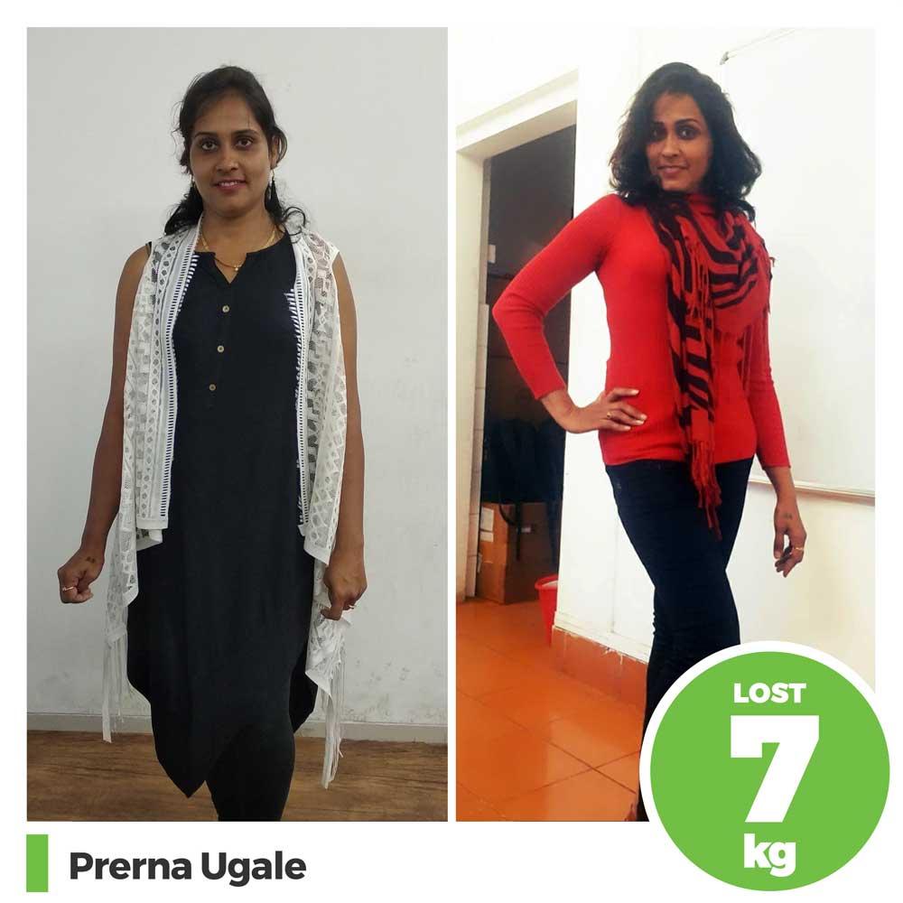 Prerna Ugale 7 kg weight loss program pune