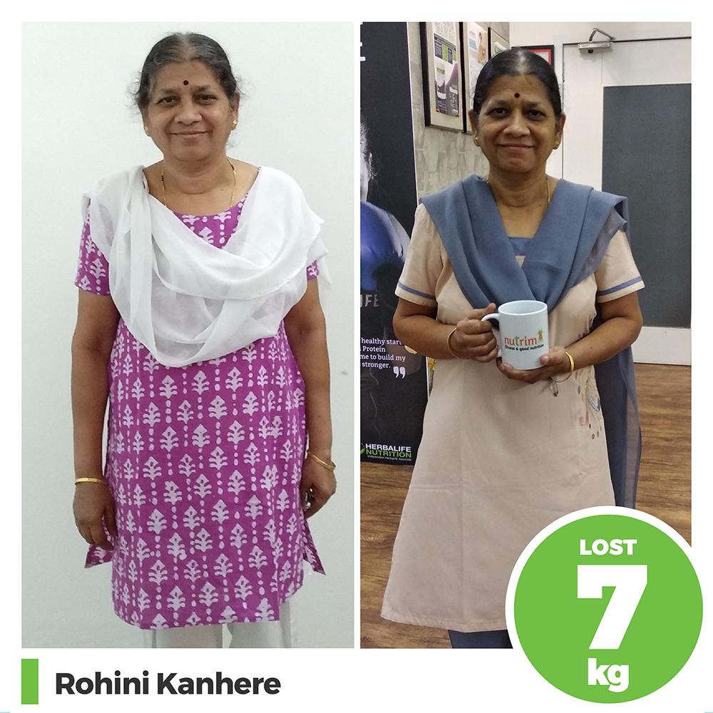 Rohini Kanhere 7 kg weight loss program pune