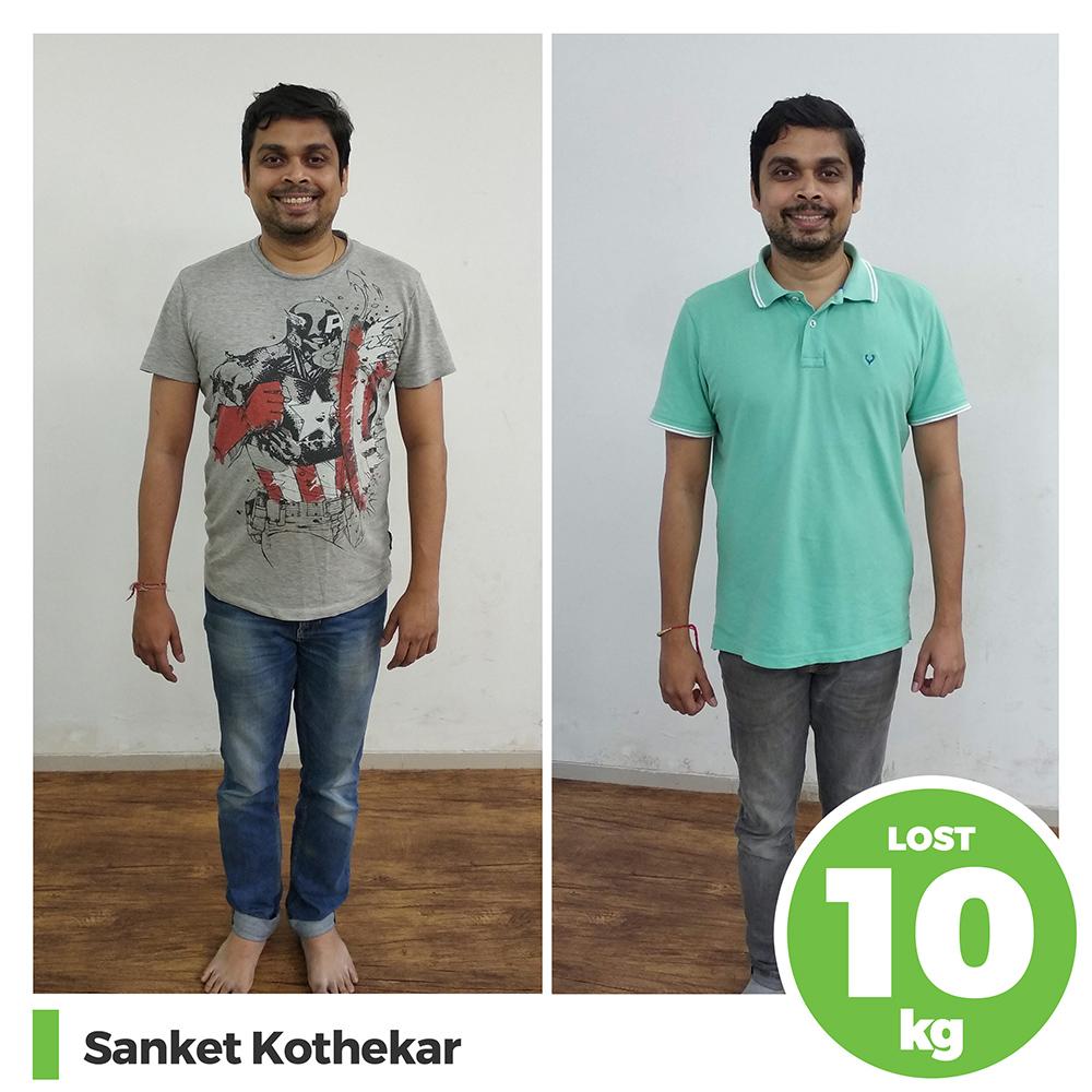 Sanket Kothekar 10 kg weight loss program pune