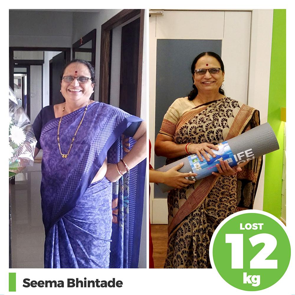 Seema Bhintade 12 kg weight loss program pune