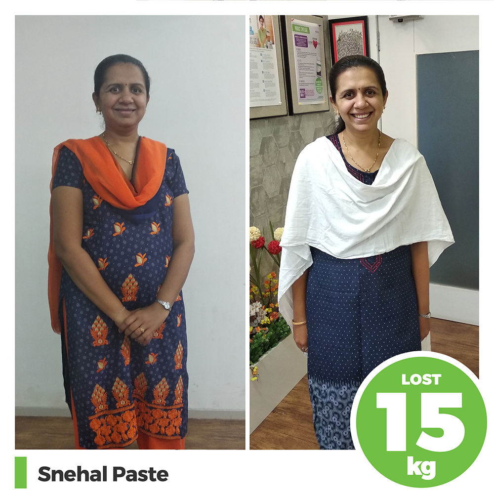 Snehal Paste 15 kg post pregnancy weight loss pune