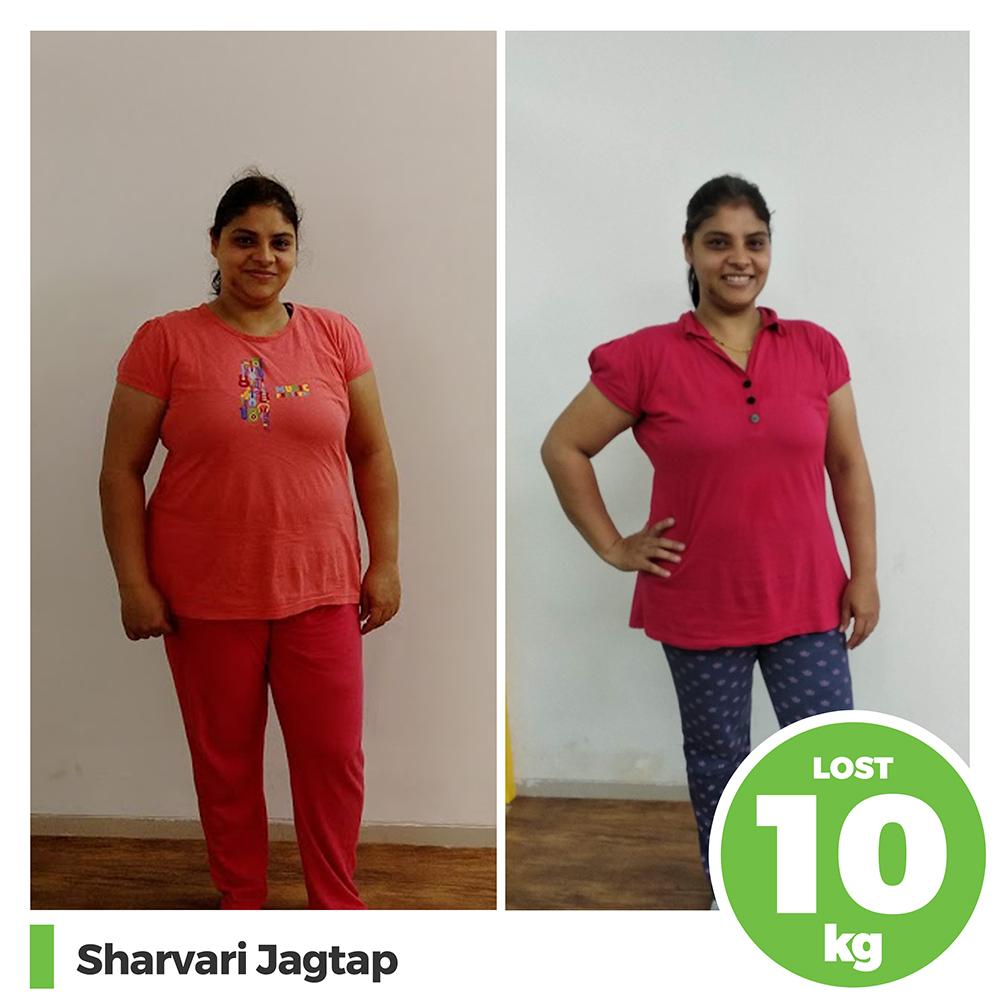 Sharvari Jagtap 10 kg post pregnancy weight loss pune