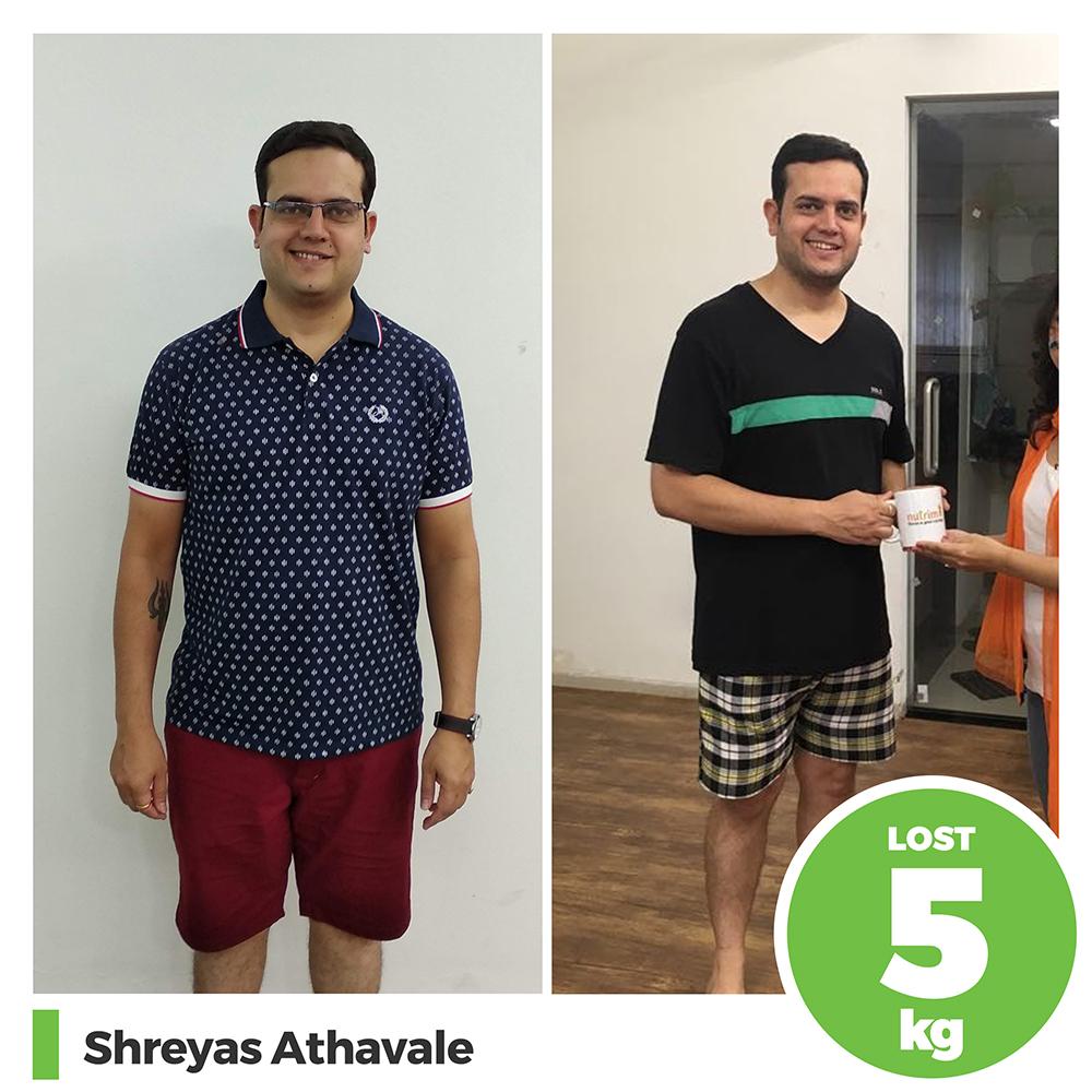 Shreyas Athavale 5 kg weight loss program pune