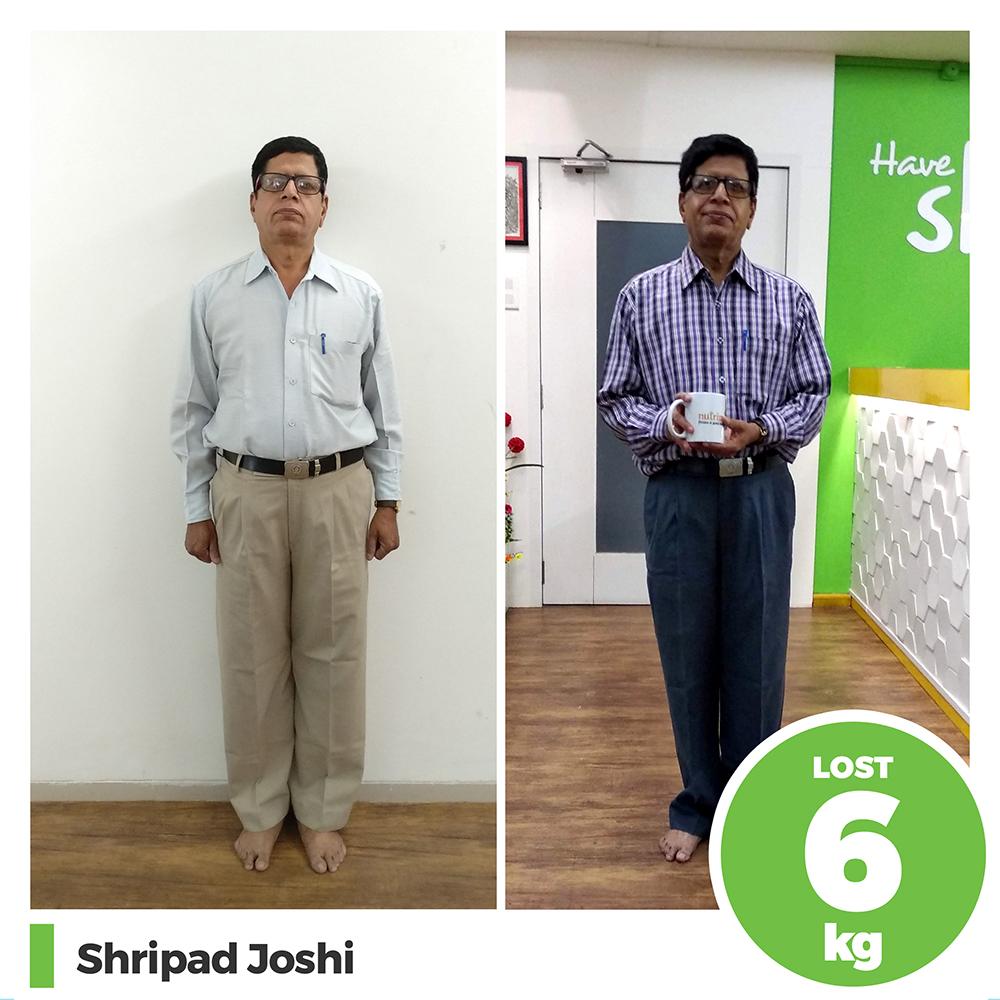 Shripad Joshi 6 kg weight loss program pune