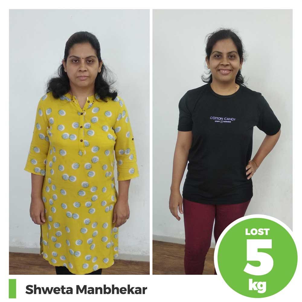 shweta manbhekar 5 kg weight loss program pune