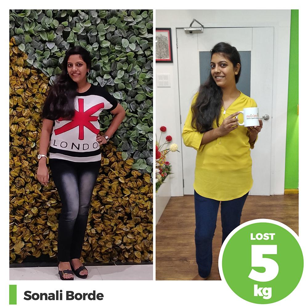 Sonali Borde 5 kg weight loss program pune