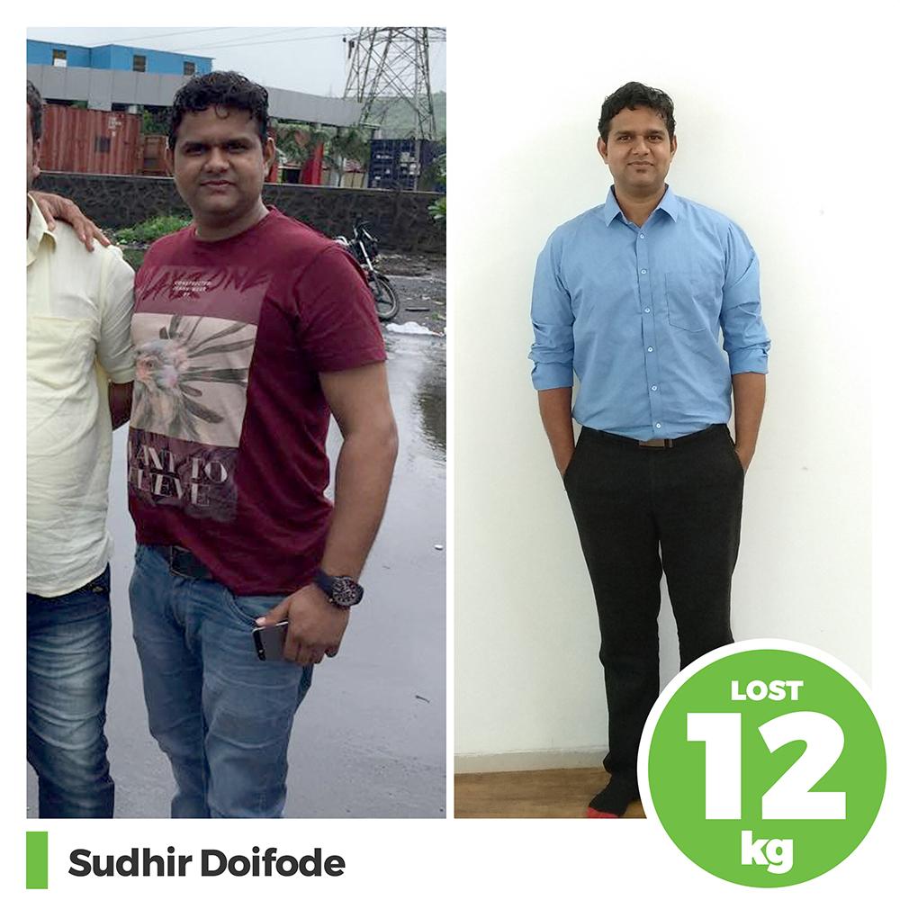 Sudhir Doifode 12 kg weight loss program pune