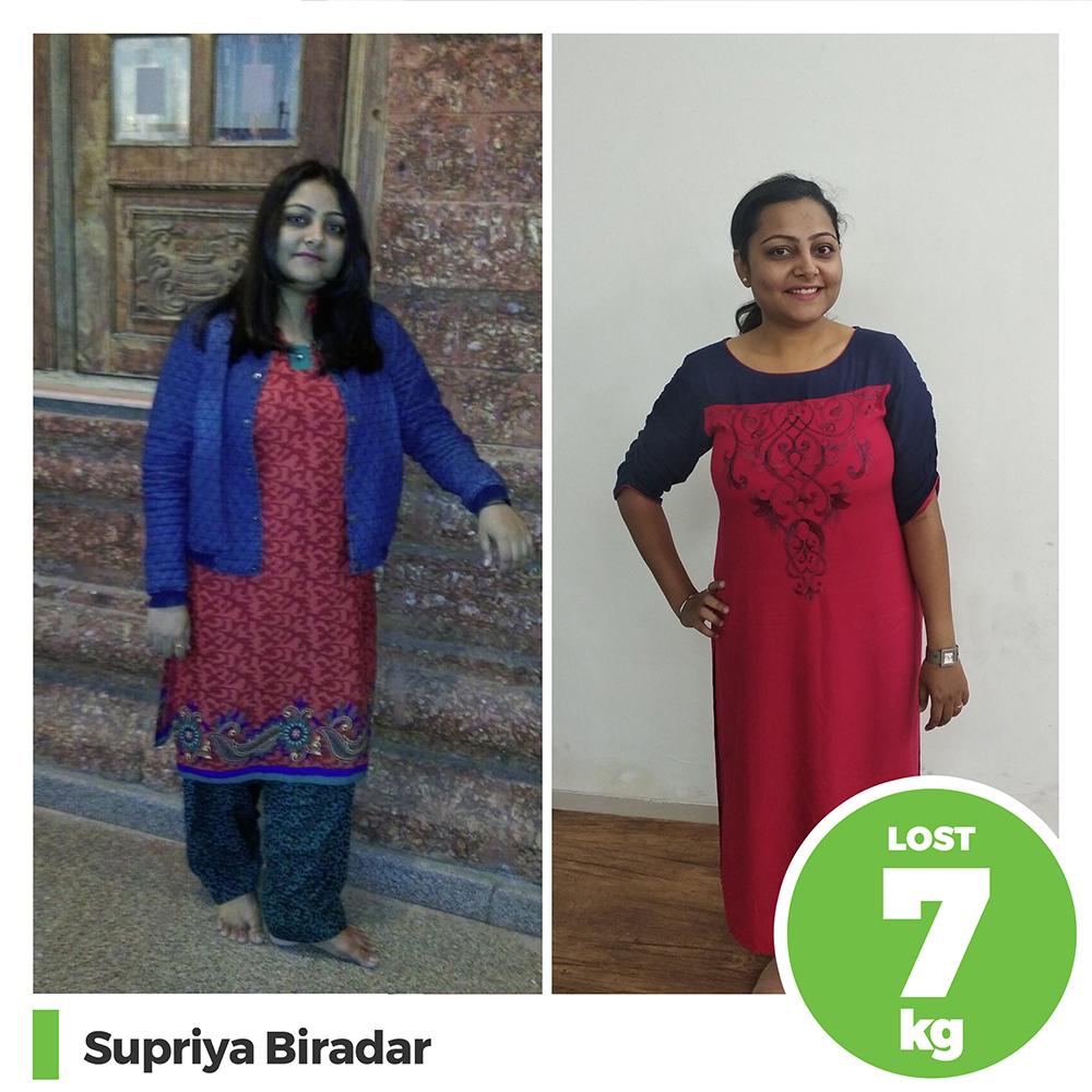 Supriya Bradar 7 kg weight loss program pune