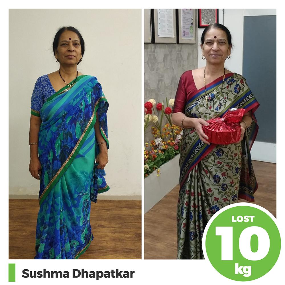 Sushma Dhapatkar 10 kg weight loss program pune