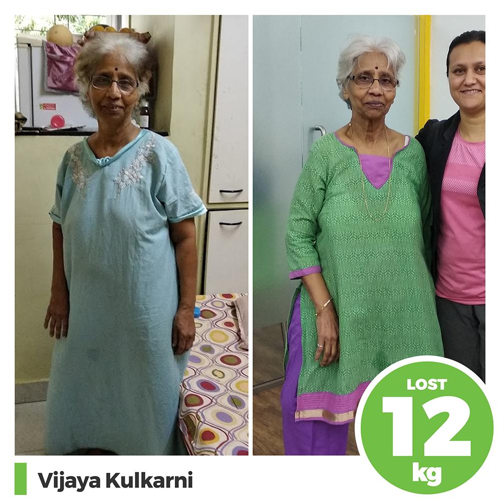 Vijaya Kulkarni 12 kg weight loss program pune