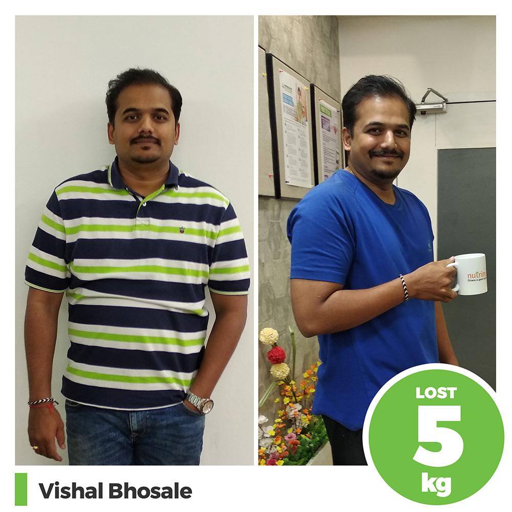Vishal Bhosale 5 kg weight loss program pune
