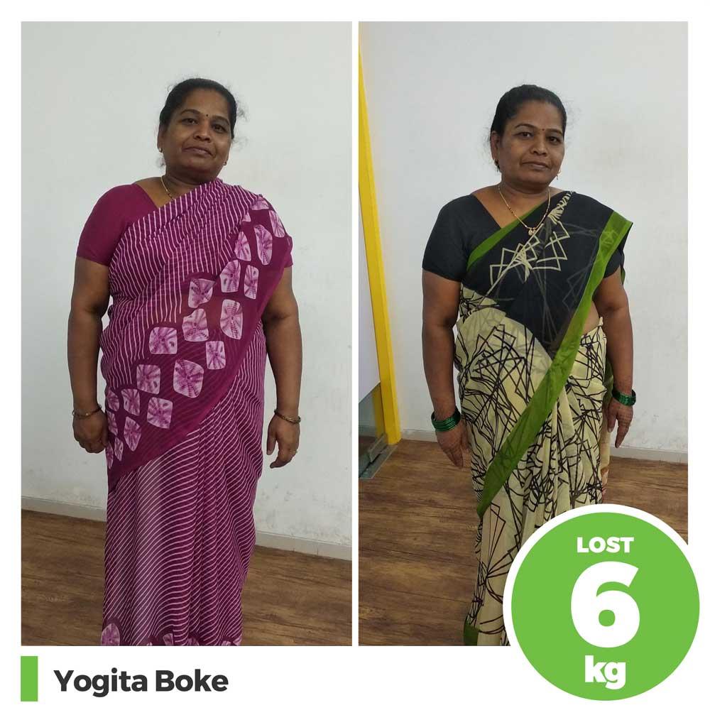 Yogita Boke 6 kg weight loss result pune